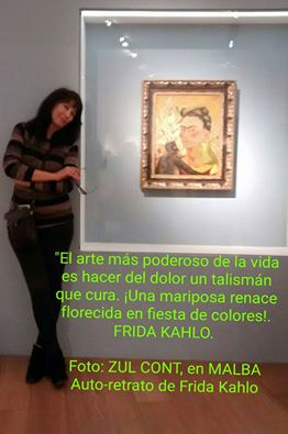 zul auto retrato frida kahlo en malba