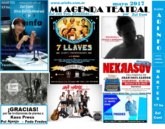 mi agenda teatral mayo 2017