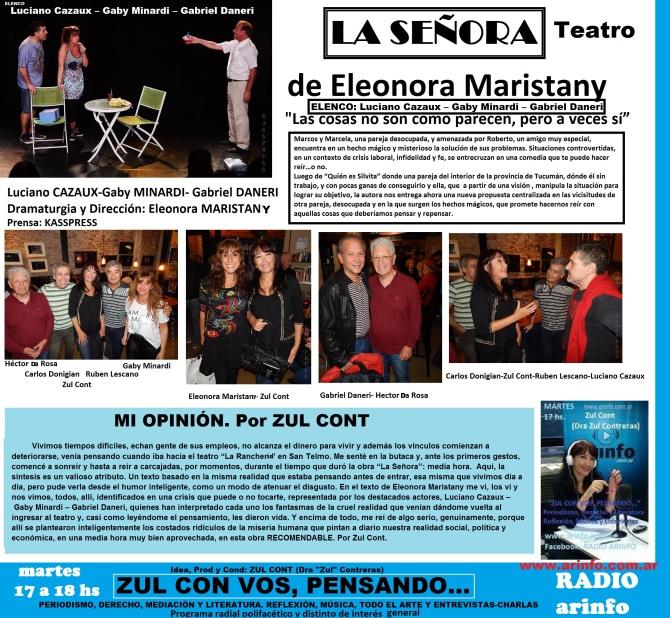 La señora teatro zul crítica teatral promo zcvp